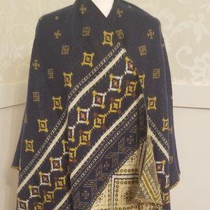World Market geometric pattern shawl